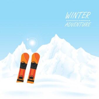 Paisagem de aventura de inverno