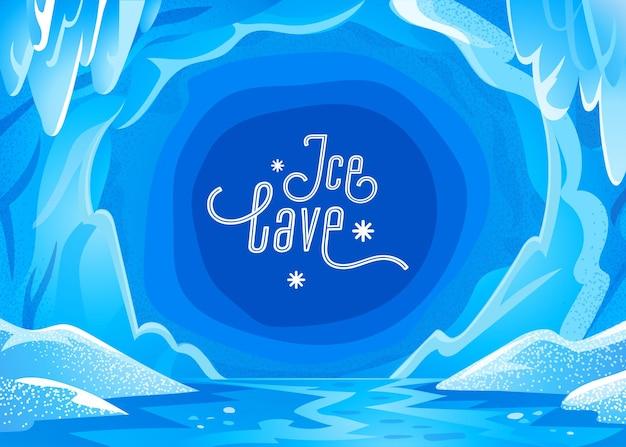 Paisagem de caverna de gelo
