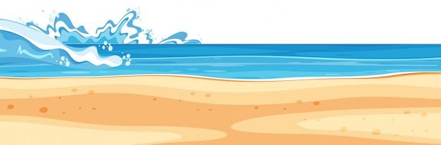 Paisagem de fundo com mar azul e praia limpa