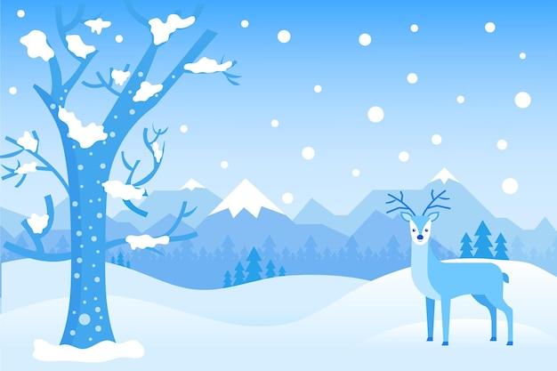 Paisagem de inverno plana