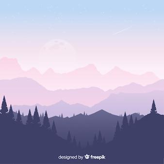 Paisagem de montanhas de fundo