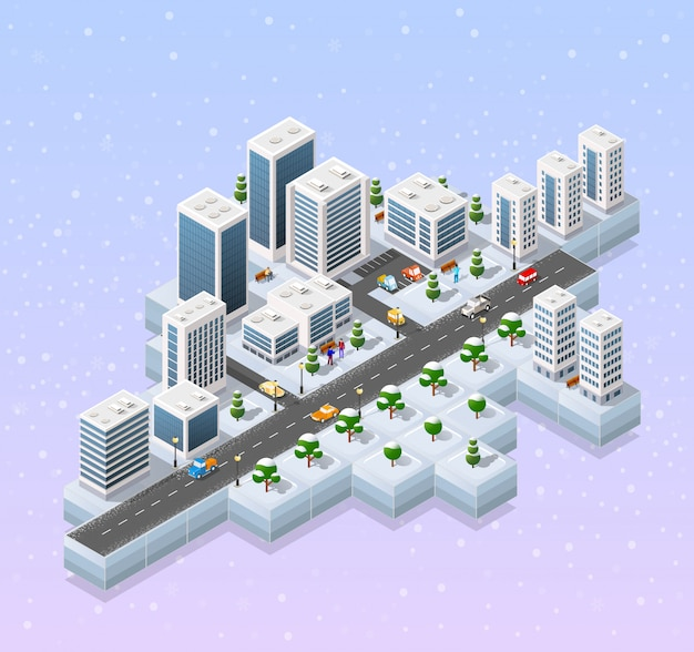 Paisagem de natal do inverno