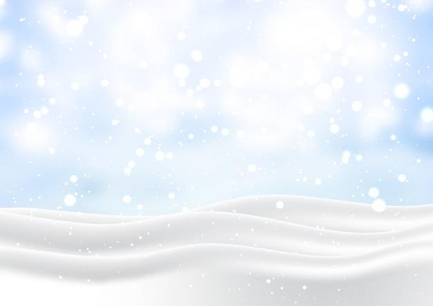 Paisagem de natal nevado