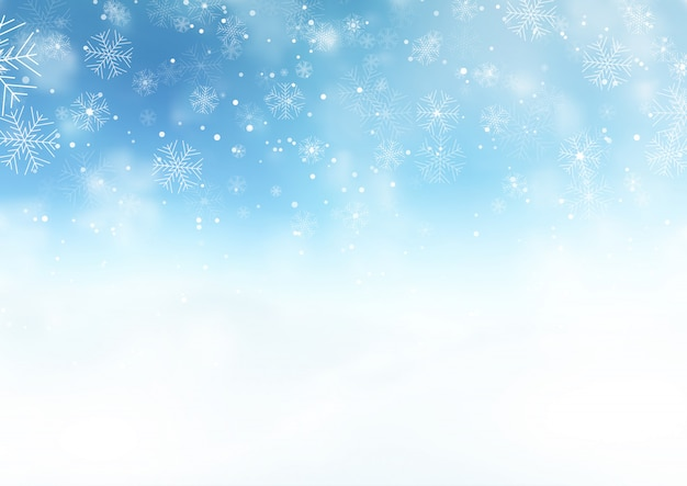 Paisagem de natal neve