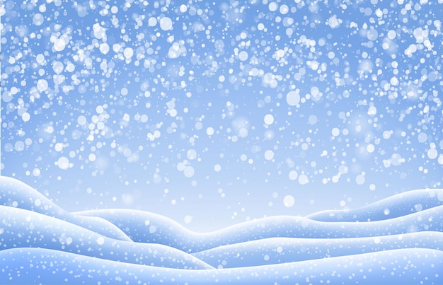 Paisagem de neve de natal