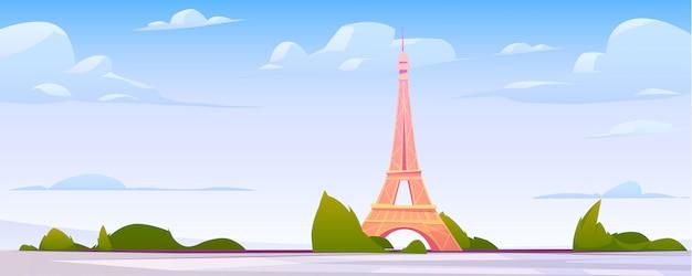 Paisagem de paris, fundo do horizonte da cidade de frança