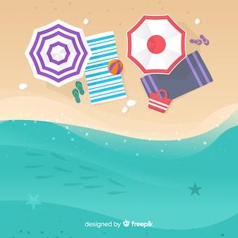 Paisagem de praia de fundo tropical vector