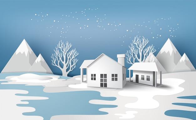 Paisagem de temporada de inverno
