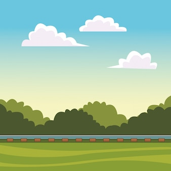 Paisagem de trilha de trem