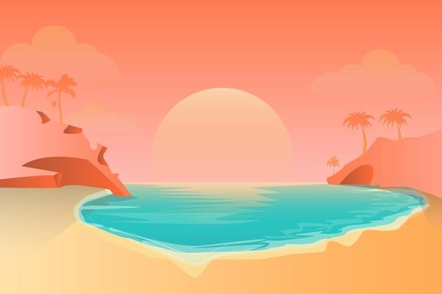 Paisagem de verão para zoom