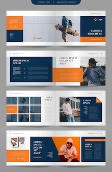 Paisagem design de brochura de moda