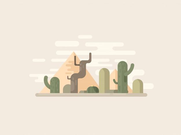 Paisagem do deserto de eqypt