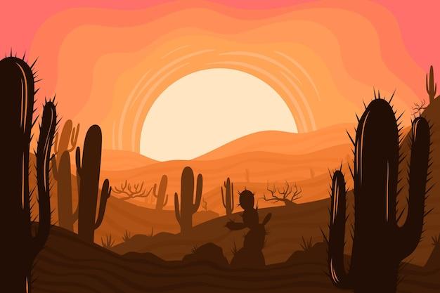 Paisagem do deserto - fundo para videoconferência