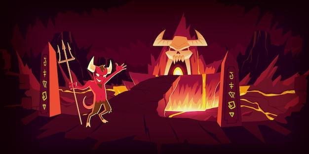 Paisagem do inferno