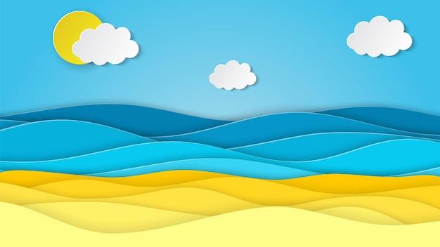 Paisagem do mar com praia