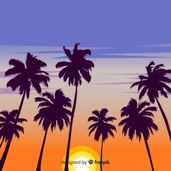 Paisagem do sol praia realista