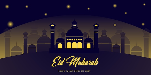 Paisagem, eid, mubarak, templo