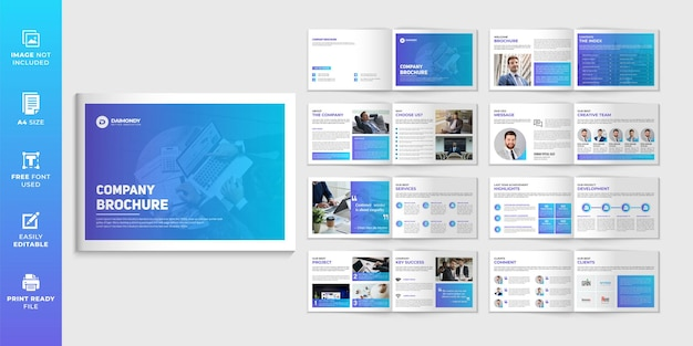 Paisagem modelo minimalista de design de brochura da empresa