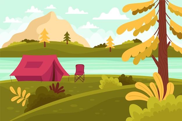 Paisagem natural da área de acampamento
