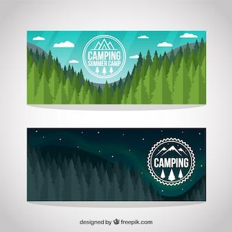 Paisagem pinheiros completos banners