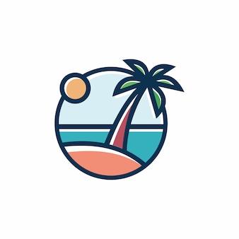 Paisagem por do sol praia tropical