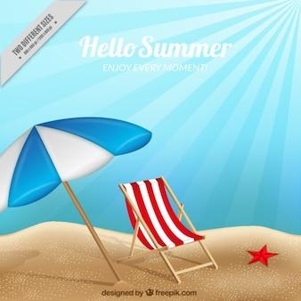 Paisagem relaxante verão