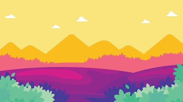 Paisagem tropical colorida. fundo da natureza