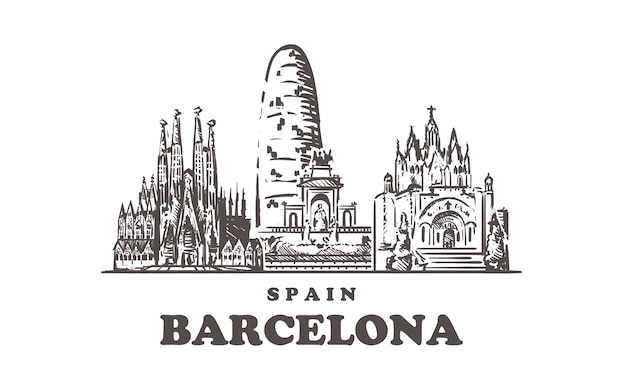 Paisagem urbana de barcelona, espanha