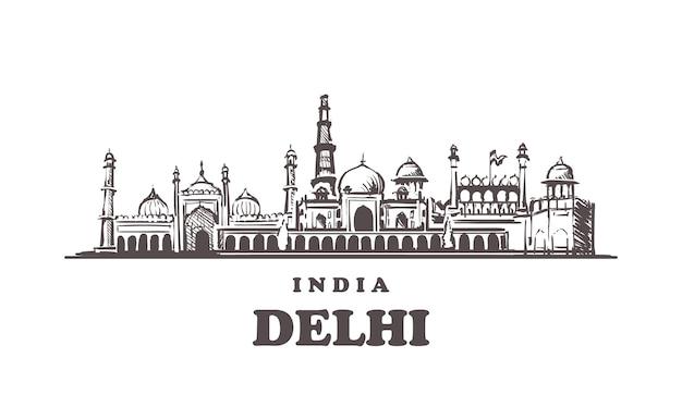 Paisagem urbana de delhi, índia
