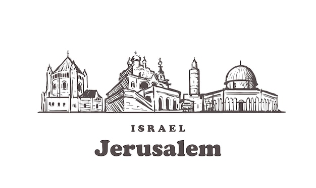 Paisagem urbana de jerusalém, israel