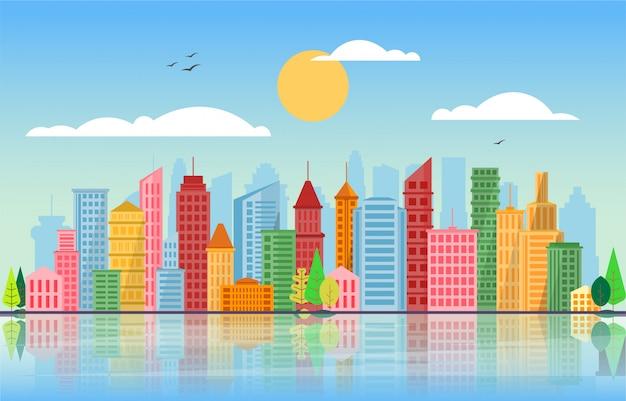 Paisagem urbana em cores