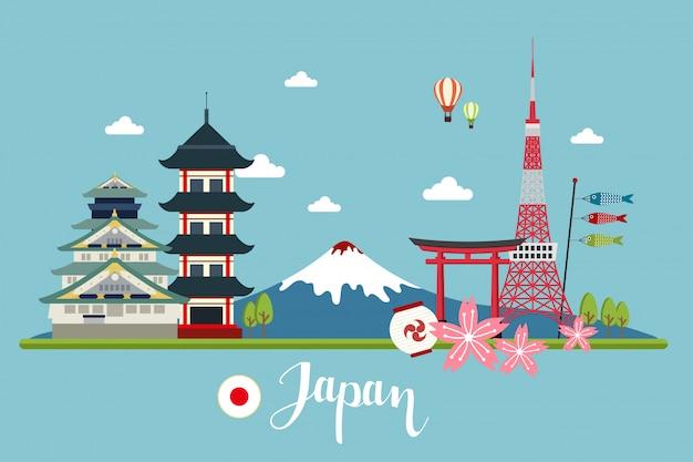 Paisagens de viagem no japão