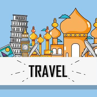 Países de férias de viagem para visitar