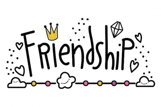 Palavra de amizade isolada