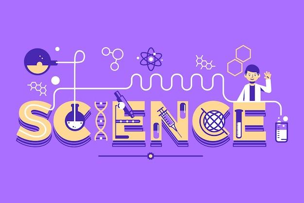 Palavra de ciência ilustrada