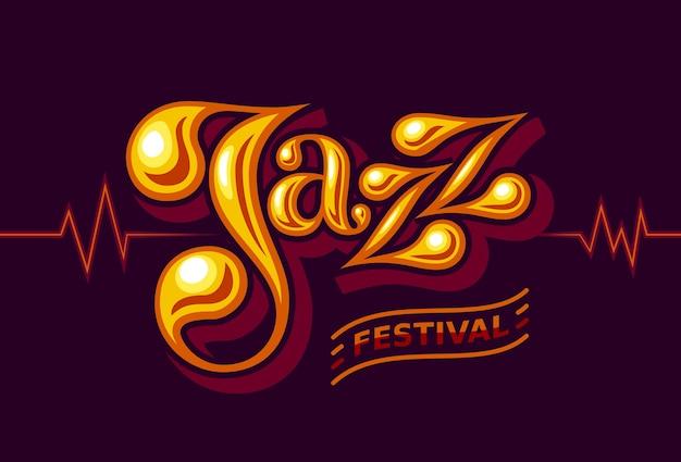 Palavra de jazz em fundo escuro. cores globais. gradientes grátis