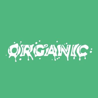 Palavra de letras orgânicas. .