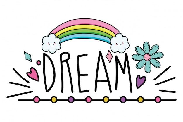 Palavra de sonho isolada