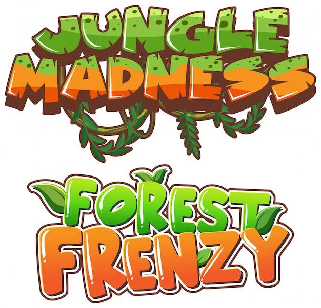 Palavra para loucura na selva e frenesi na floresta