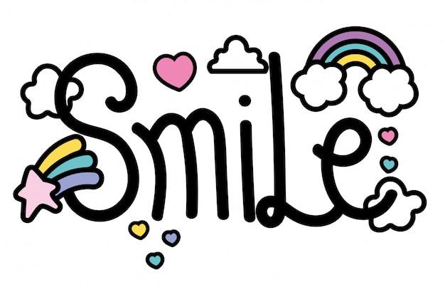 Palavra sorriso isolado
