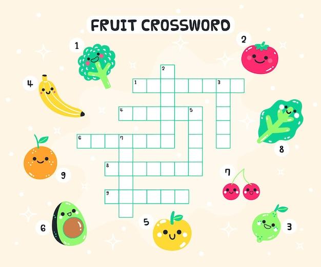 Palavras cruzadas criativas em inglês para crianças do jardim de infância