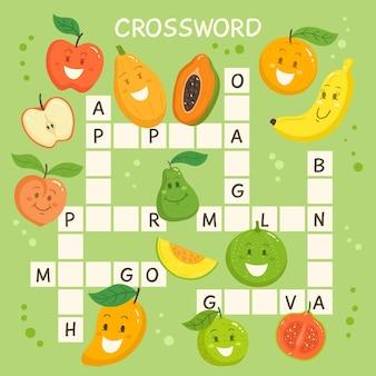 Palavras cruzadas em inglês para crianças