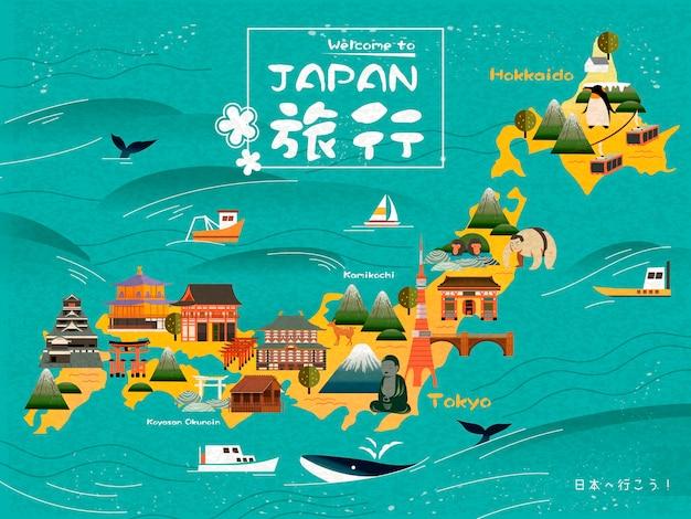Palavras de viagem do japão em japonês no meio
