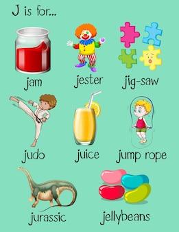 Palavras diferentes começam com a letra j