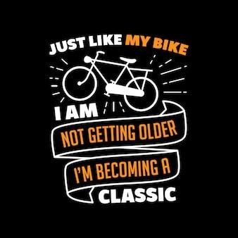 Palavras e citações clássicas da bicicleta