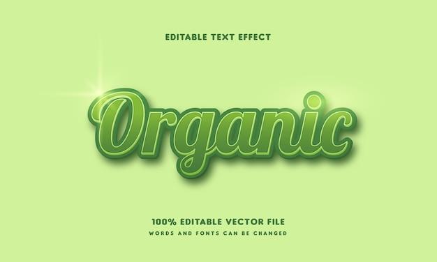 Palavras e fontes editáveis de estilo de texto orgânico verde