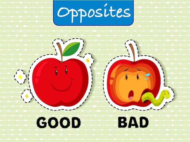 Palavras opostas para o bem e o mal