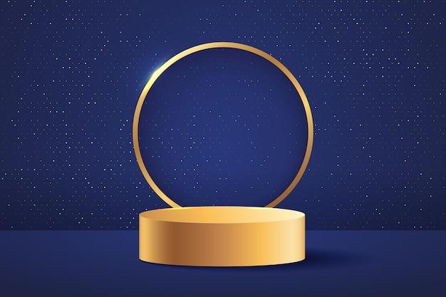 Palco abstrato para prêmios em moderno.