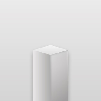 Palco do museu realista. pódio de cubo realista, exposição de exibição.