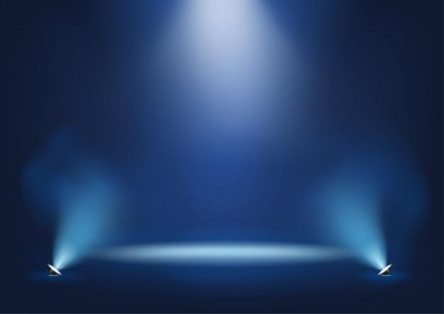 Palco iluminado com luzes brilhantes modelo para apresentação